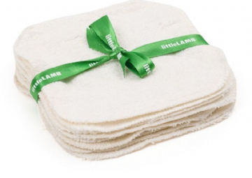 Little Lamb bamboo washable wipes (pack of 10)